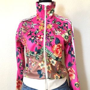 Adidas Originals Flower Zip up Track Jacket Size S